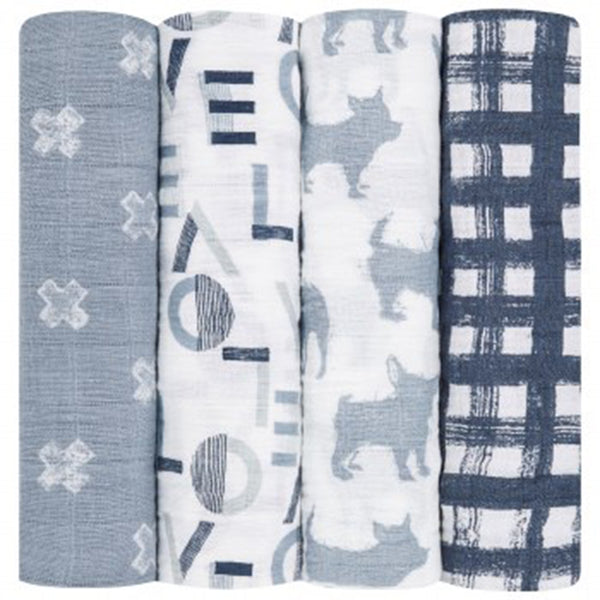 Four Pack Swaddle Waverly
