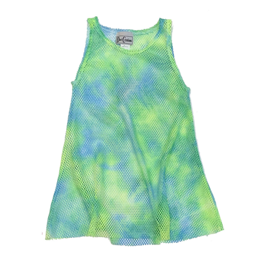 Mesh Cover Up Tie Dye Green/Blue