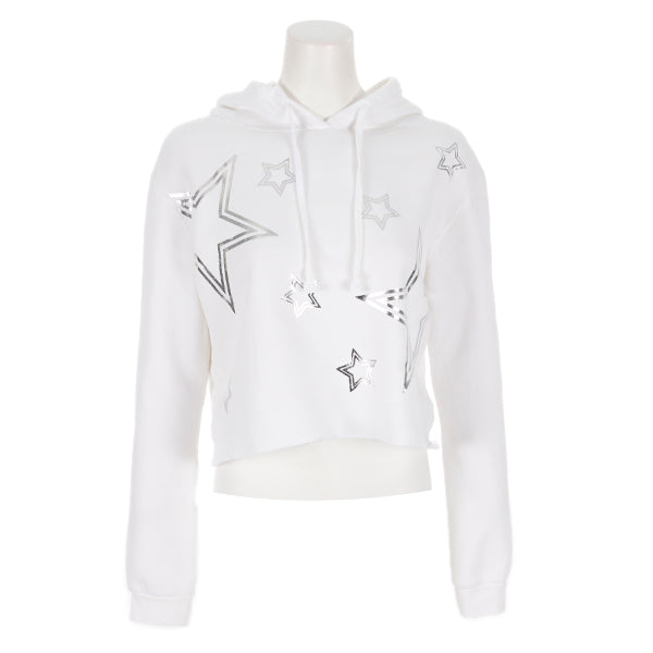Crop Hoody with Silver Stars