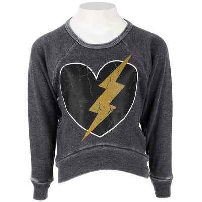 Sweatshirt with Heart Bolt