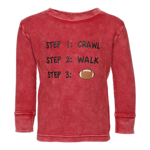 Crawl Walk Football Enzyme Wash Thermal
