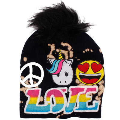 Patch with Pom Love Patch - Fits Sizes 7-14 & Junior