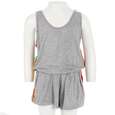 Romper with Rainbow Taping Pockets