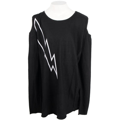 Cold Shoulder Lightning Bolt