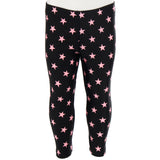 Legging Black with Pink Stars