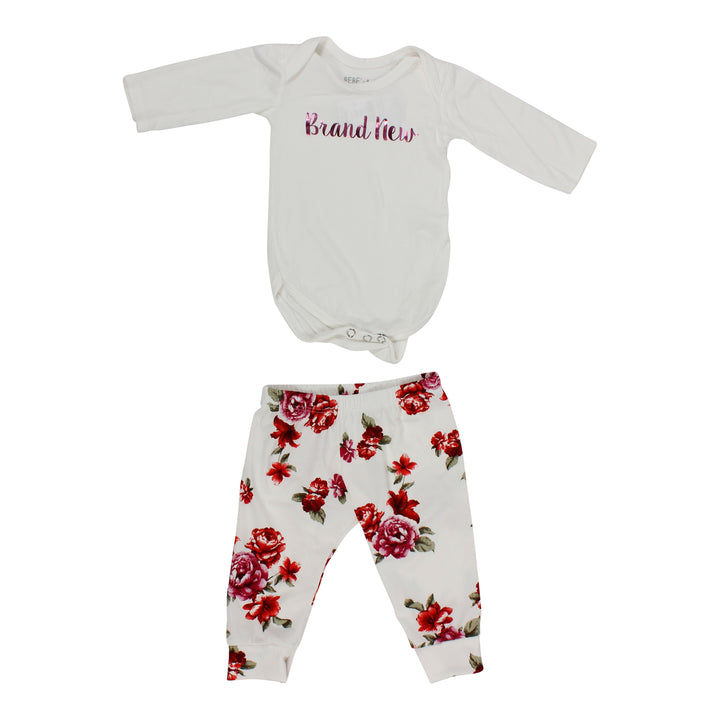 Ivory/Rose/Creme Onesie Two Piece Set
