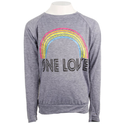 Long Sleeve Top with Rainbow One Love