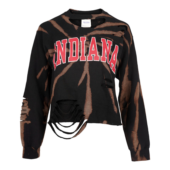 Spiral Bleach Indiana Crop Sweatshirt