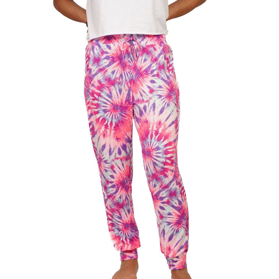 Pink & Purple Spiral Tie Dye Jogger Girls 7-14