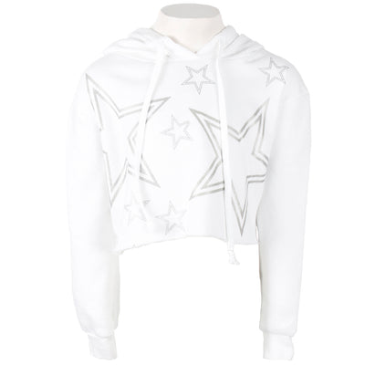 Long Sleeve Cropped Hoody with Stars