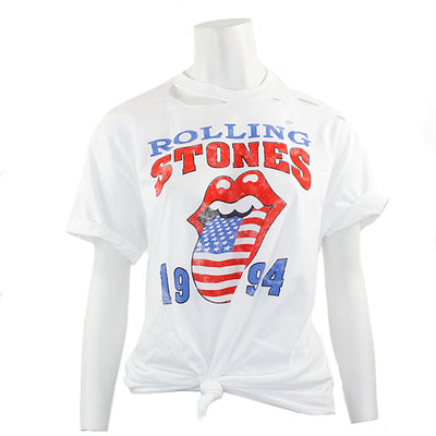 Short Sleeve 1994 Rolling Stone Top with Cuts