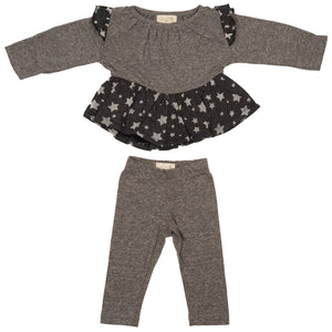 Star Ruffle Top and Legging Set