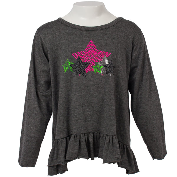 Long Sleeve Ruffle with 3 Stars