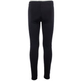 Solid Black Legging with Pink Black Silver Stripe