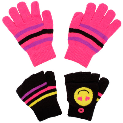 Emoji Love Flip Top Glove