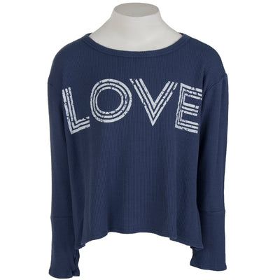 Long Sleeve Hi Lo Thermal with Love