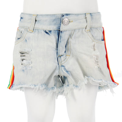 Denim Short with Rainbow Taping