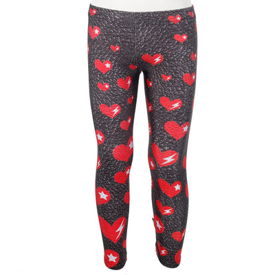 Leather Legging with Red Hearts