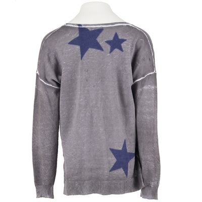 Sweater with Blue Stars