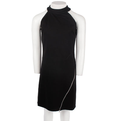 Mock Neck Sleeveless Zip Dress