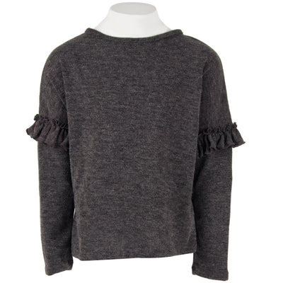 Dropped Shoulder with Ruffle Detail Long Sleeve