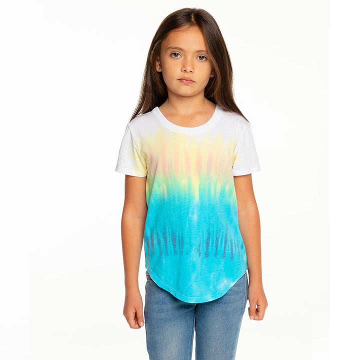 Short Sleeve Tie Dye Scoop Back Top