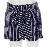 Tulip Short with Front Tie Stripe