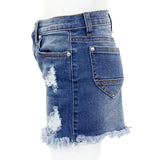 Denim Skirt with Two Tone