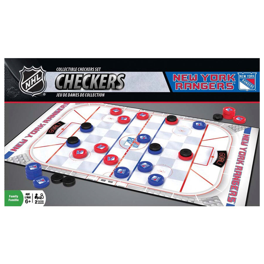 New York Rangers Checkers Game