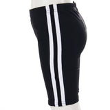 Bike Short with Black White Black Stripe