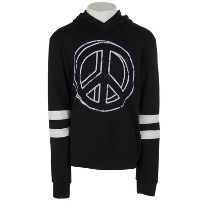 Long Sleeve Baby French Terry Hoody with Peace
