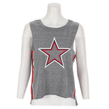 Muscle Tank with Star and Side Stripe