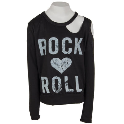 French Terry Long Sleeve Cut Out with Rock Heart Roll