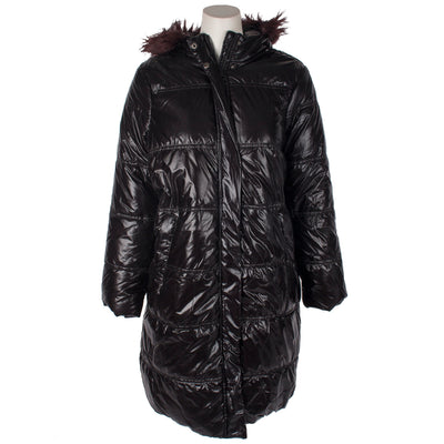 Metallic Long Puffer Jacket