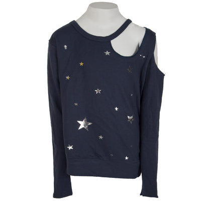 French Terry Long Sleeve Cut Out with Foil Stars