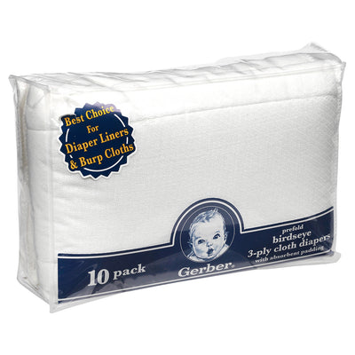 10 Pack Prefold Cloth Diaper