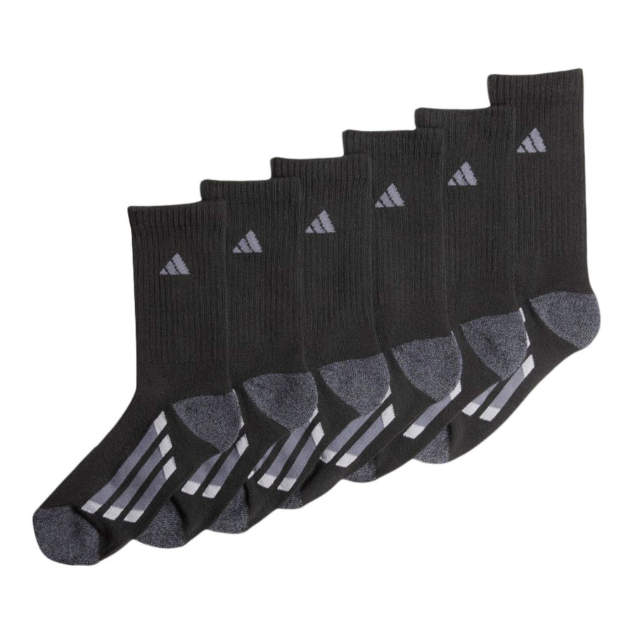 Youth Size 6 Pack Crew Socks - Shoe Size 3Y - 9