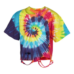 Primary Tie Dye Cropped Cut Tee