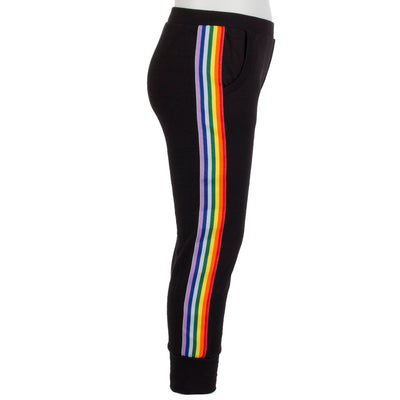 Sweatpant with Rainbow Stripes