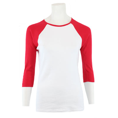 Three Quarter Sleeve Raglan Tee