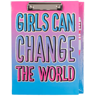 Girls Can Change The World Clipboard