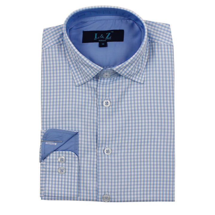 Pale Blue Checks Shirt
