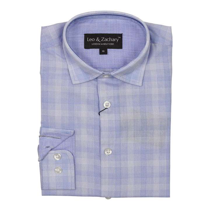 Azurre Plaid Dress Shirt
