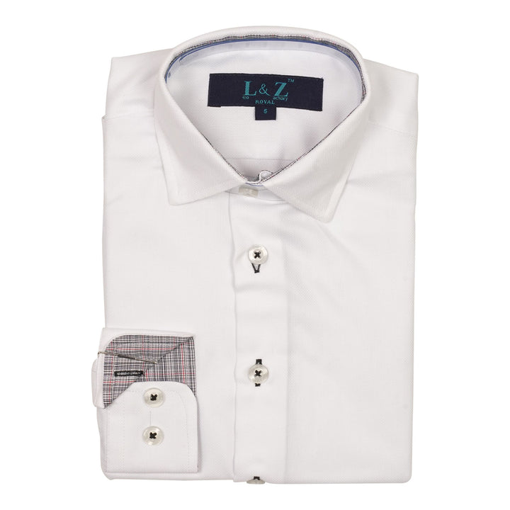 White Dress Shirt with Contrast
