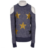 Brushed FT L/S Cold Shoulder w Stars