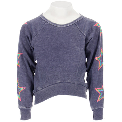 Sweatshirt with Neon Stars