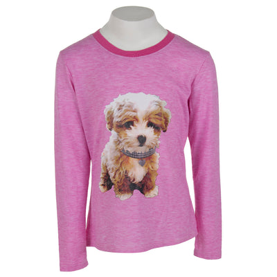 Long Sleeve Hi Lo Contrast with Dog