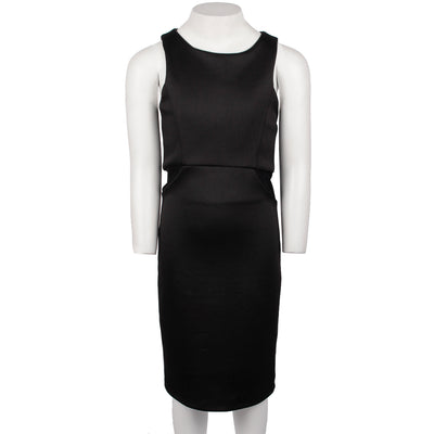 Cut Mesh Sides Sleeveless Dress