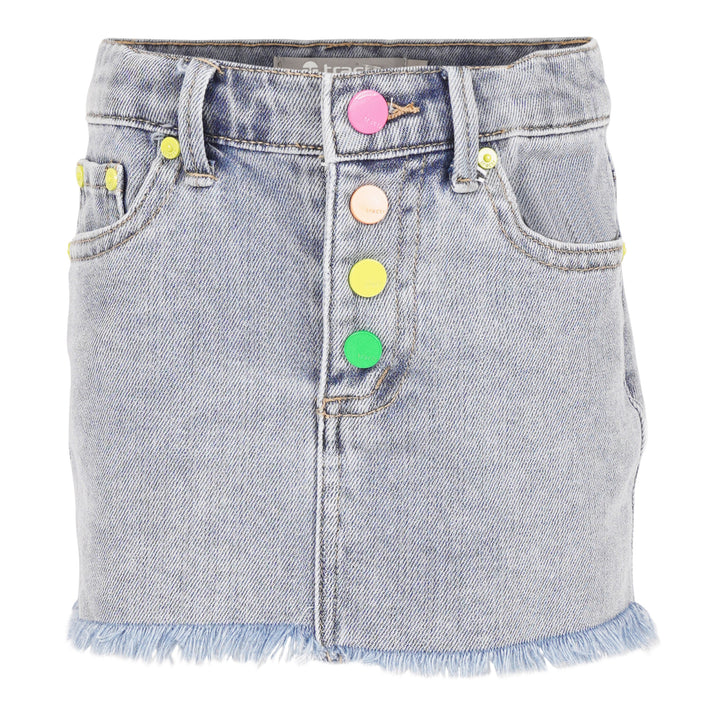 Skirt with Rainbow Button