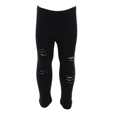 Legging Ripped Black Heather Grey